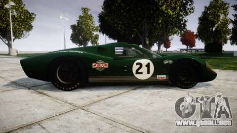 Ford GT40 Mark IV 1967 PJ Mixlub 21 para GTA 4 left
