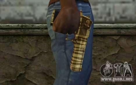 Desert Eagle Gold v1 para GTA San Andreas tercera pantalla