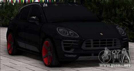 Porsche Macan Vossen para GTA San Andreas vista posterior izquierda