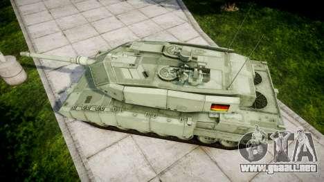 Leopard 2A7 DE Green para GTA 4 visión correcta