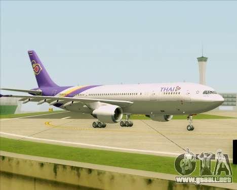 Airbus A300-600 Thai Airways International para la vista superior GTA San Andreas
