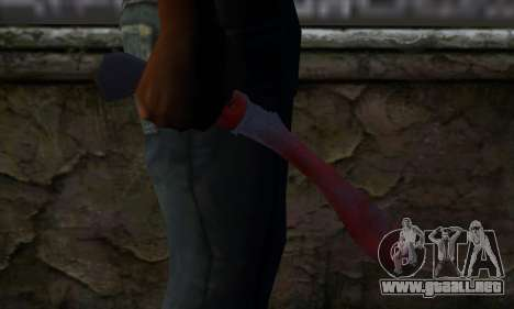 Bloody Machete from Far Cry para GTA San Andreas tercera pantalla