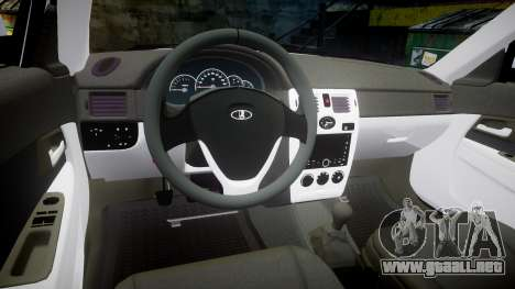 ВАЗ-Lada 2170 Priora de Dubai para GTA 4 vista hacia atrás