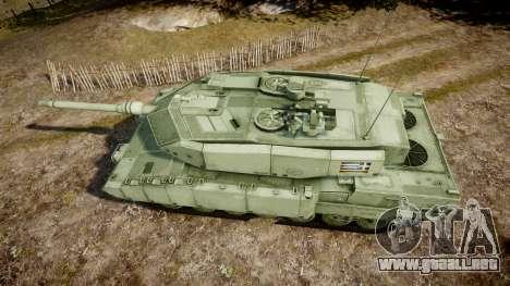 Leopard 2A7 GR Green para GTA 4 visión correcta