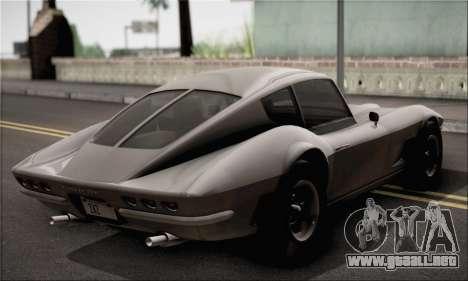 Invetero Coquette Classic v1.1 para GTA San Andreas vista posterior izquierda