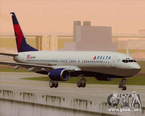 Boeing 737-800 Delta Airlines para GTA San Andreas vista hacia atrás