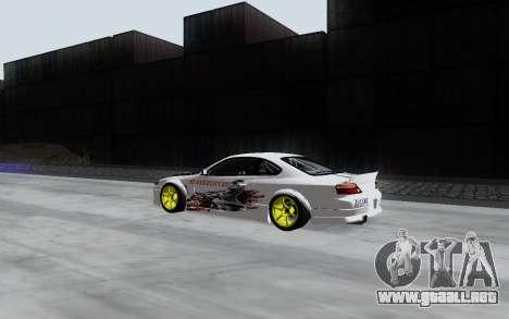 Nissan Silvia S15 VCDT para GTA San Andreas vista posterior izquierda