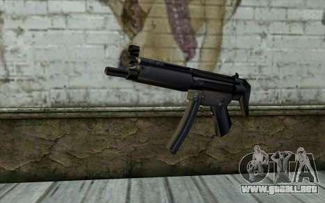 Retextured MP5 para GTA San Andreas