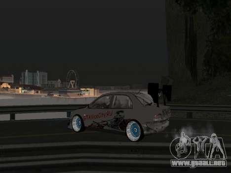 Mitsubishi Lancer Evo 9 VCDT para visión interna GTA San Andreas