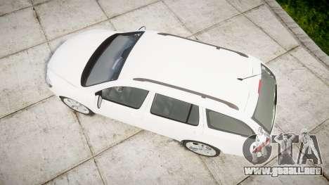 Skoda Octavia vRS Combi Unmarked Police [ELS] para GTA 4 visión correcta