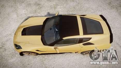 Chevrolet Corvette Z06 2015 TireMi5 para GTA 4 visión correcta