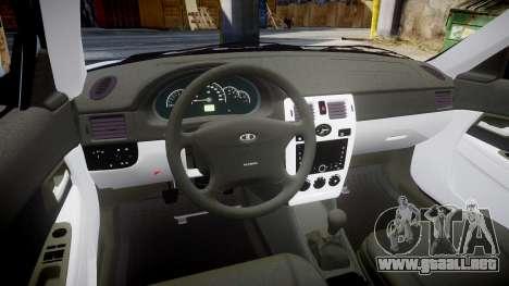 ВАЗ-Lada 2170 Priora de la Bombilla para GTA 4 vista interior