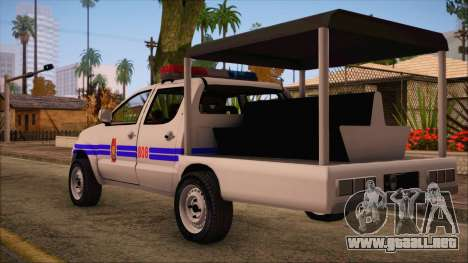 Toyota HiLux Philippine Police Car 2010 para GTA San Andreas left