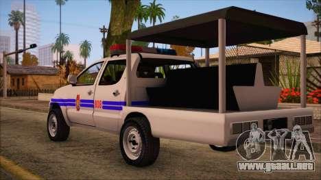 Toyota HiLux Philippine Police Car 2010 para GTA San Andreas left