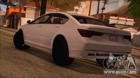 GTA 5 Ubermacht Sport para GTA San Andreas left