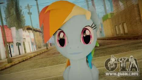 Rainbow Dash from My Little Pony para GTA San Andreas tercera pantalla