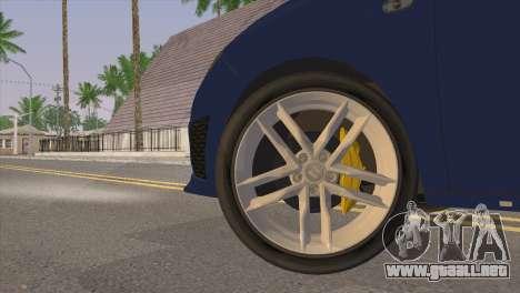 Seat Ibiza Cupra 2010 para GTA San Andreas vista posterior izquierda