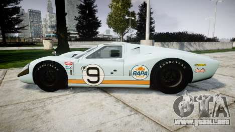 Ford GT40 Mark IV 1967 PJ RAPA olio 9 para GTA 4 left