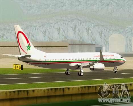 Boeing 737-8B6 Royal Air Maroc (RAM) para visión interna GTA San Andreas