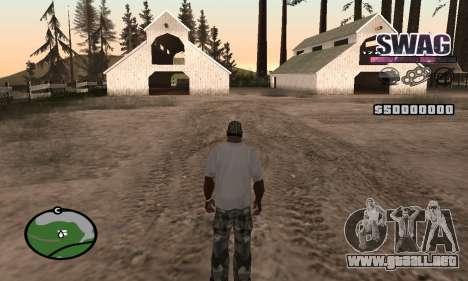 C-HUD Espacio SWAG para GTA San Andreas