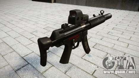 Pistola de MP5SD EOTHS CS para GTA 4 segundos de pantalla
