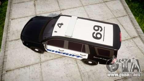 Chevrolet Tahoe 2015 Sheriff [ELS] para GTA 4 visión correcta