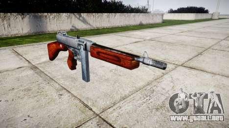 Subametralladora Thompson M1A1 cuadro icon1 para GTA 4