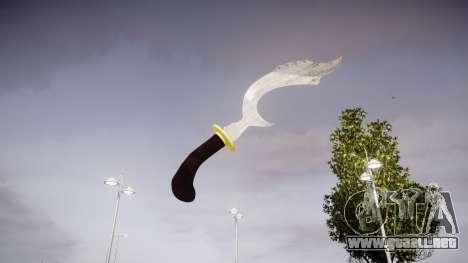 Cuchillo Ceremonial Kujang para GTA 4 segundos de pantalla