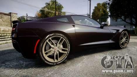 Chevrolet Corvette C7 Stingray 2014 v2.0 TireYA2 para GTA 4 left