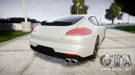 Porsche Panamera GTS 2014 para GTA 4 Vista posterior izquierda