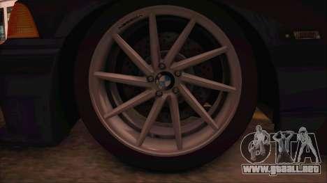 BMW M3 E36 Cabrio 34 DAT 29 para la visión correcta GTA San Andreas