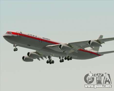 Airbus A340-300 Air Koryo para visión interna GTA San Andreas