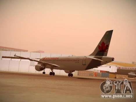 Airbus A320-214 Air Canada para la visión correcta GTA San Andreas