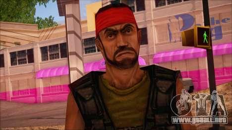 Guerilla from Counter Strike Condition Zero para GTA San Andreas tercera pantalla