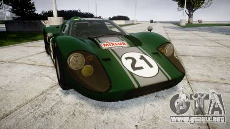 Ford GT40 Mark IV 1967 PJ Mixlub 21 para GTA 4