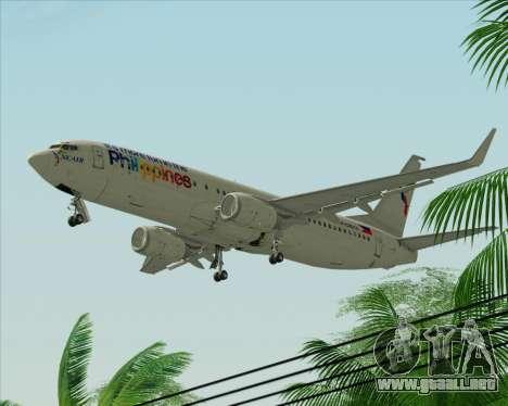 Boeing 737-800 South East Asian Airlines (SEAIR) para GTA San Andreas vista posterior izquierda