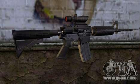 M4 Carbine ACOG para GTA San Andreas segunda pantalla