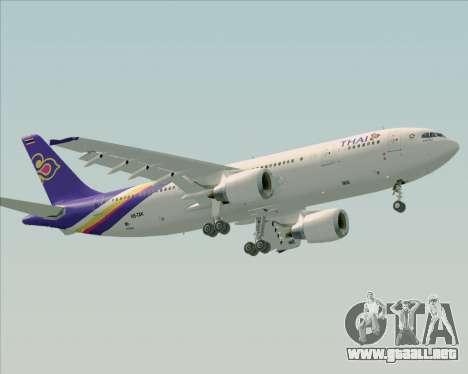 Airbus A300-600 Thai Airways International para GTA San Andreas left