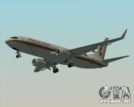 Boeing 737-8B6 Royal Air Maroc (RAM) para la vista superior GTA San Andreas