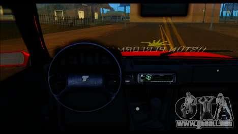 Tofas Dogan SLX Koni Clup para GTA San Andreas vista posterior izquierda