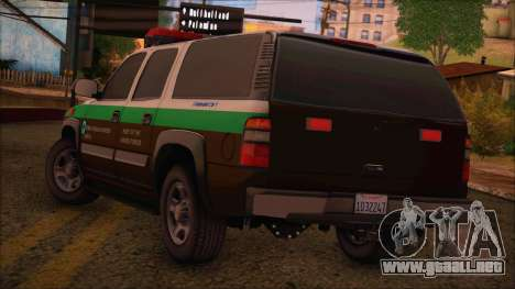 Tierra Robada Armed Forces Border Patrol para GTA San Andreas left