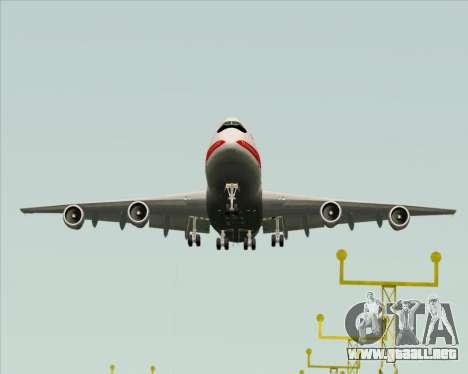 Boeing 747-100 Trans World Airlines (TWA) para GTA San Andreas vista hacia atrás