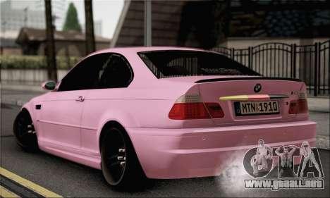 BMW M3 E46 StanceWork para GTA San Andreas left