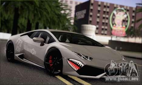 Lamborghini Huracan LP610-4 2015 Rim para visión interna GTA San Andreas
