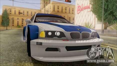 BMW M3 E46 GTR para la visión correcta GTA San Andreas