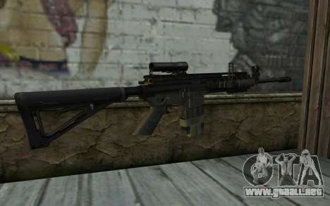 M4A1 from COD Modern Warfare 3 para GTA San Andreas segunda pantalla