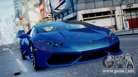 Lamborghini Huracan LP610-4 from Horizon 2 para GTA 4 left