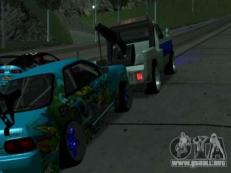Nissan Skyline R34 EvilEmpire para la visión correcta GTA San Andreas