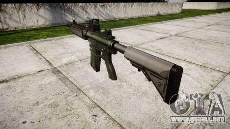 Máquina M4A1 destino para GTA 4 segundos de pantalla