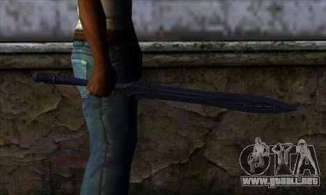 Unnamed Sword para GTA San Andreas tercera pantalla